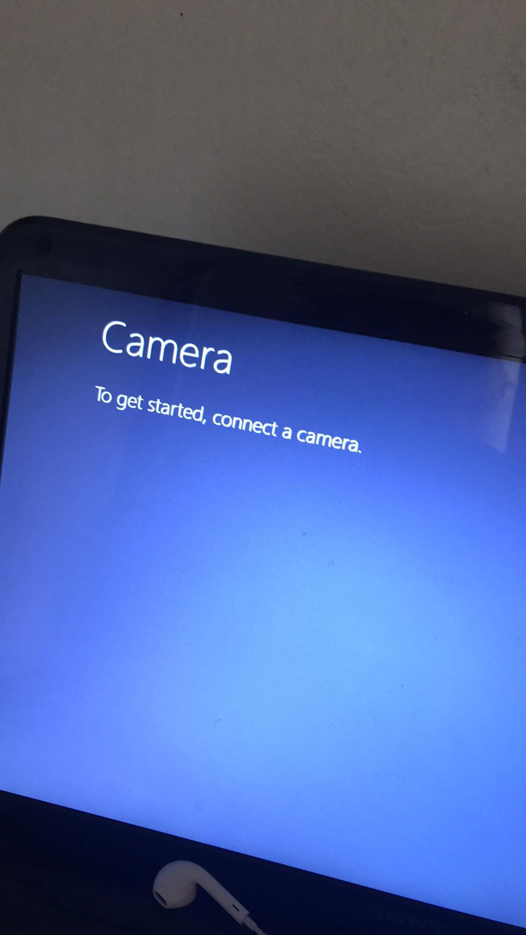 "Fix ""To get started, connect a camera"" error on win 8"