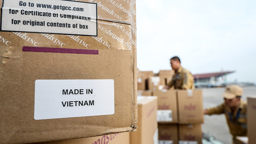 "The words ""Made in Vietnam"" are printed on the outside of each package"