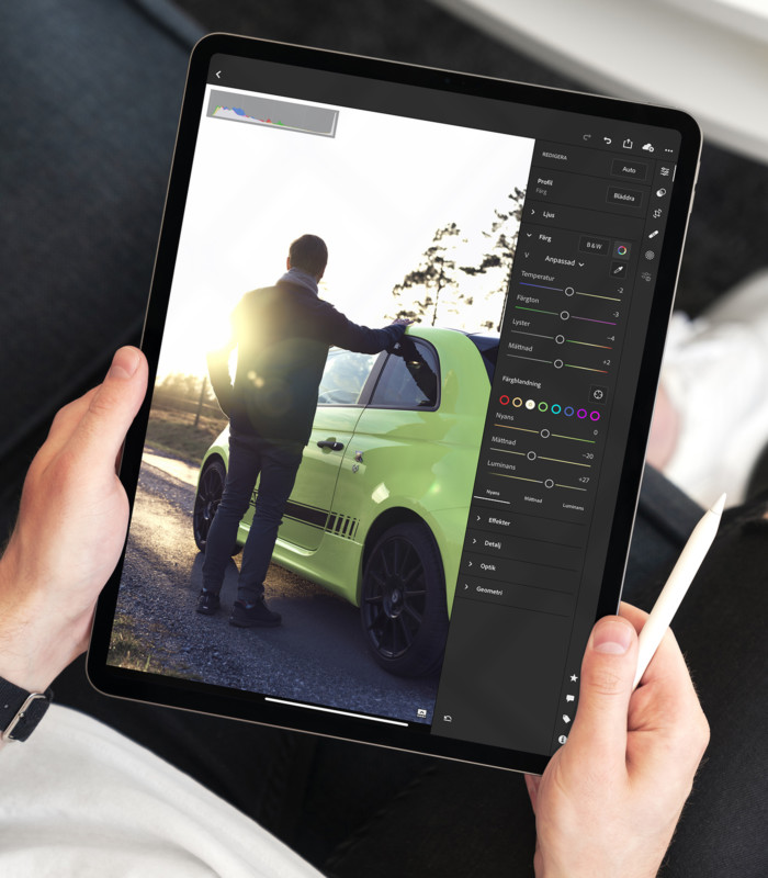 New lightroom mobile update follow user's image cleaning and preset error
