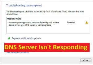 Fix DNS Server Not Responding error
