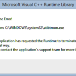 How to fix runtime error in Windows 10